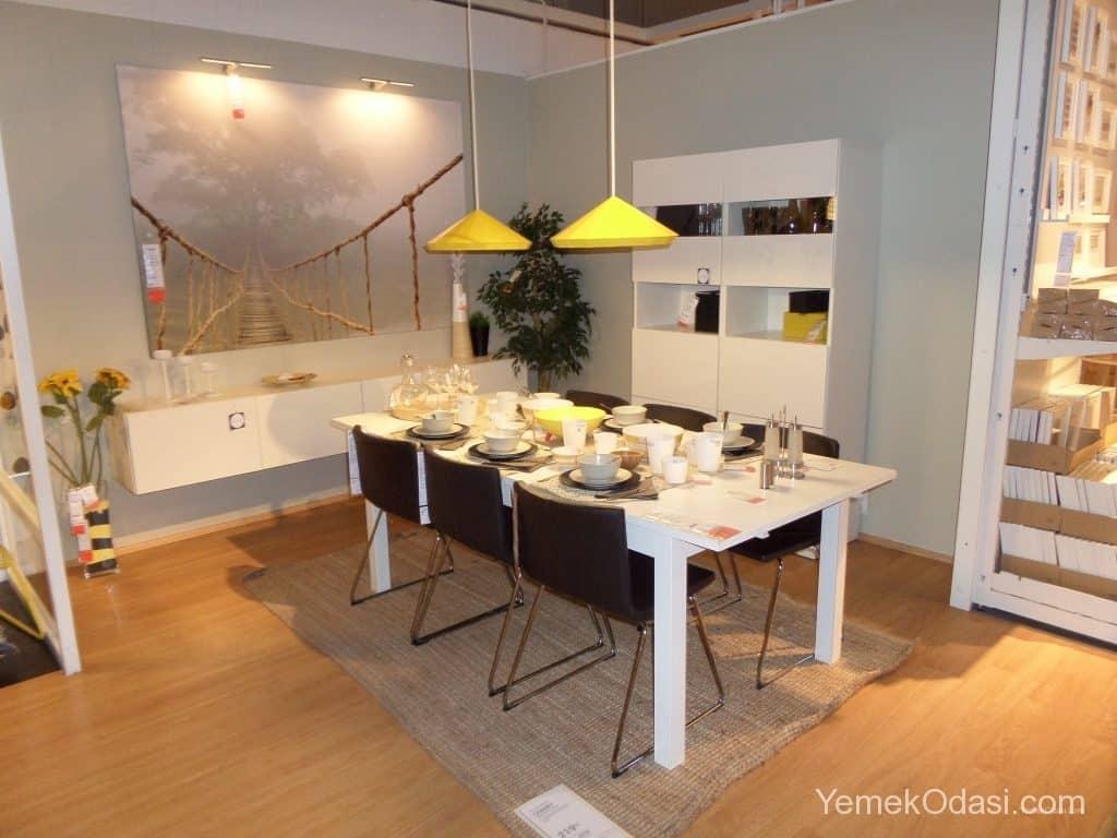 2014 model beyaz yemek odasi