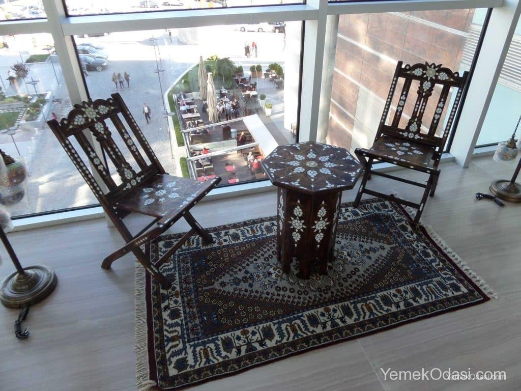 rustik kahve masası