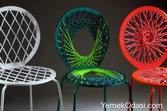 3 renk sandalye