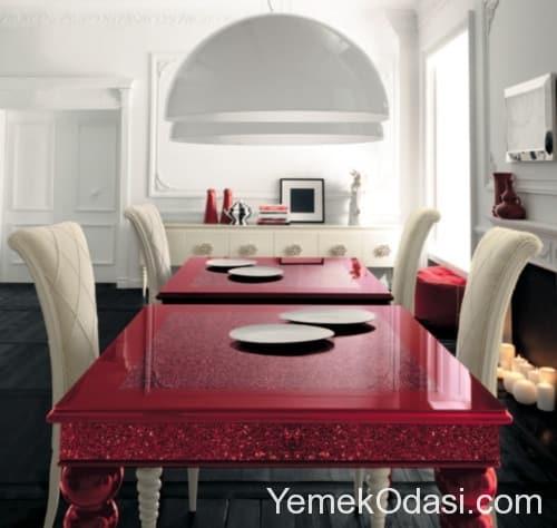 Kırmızı Beyaz Yemek Odası (2)