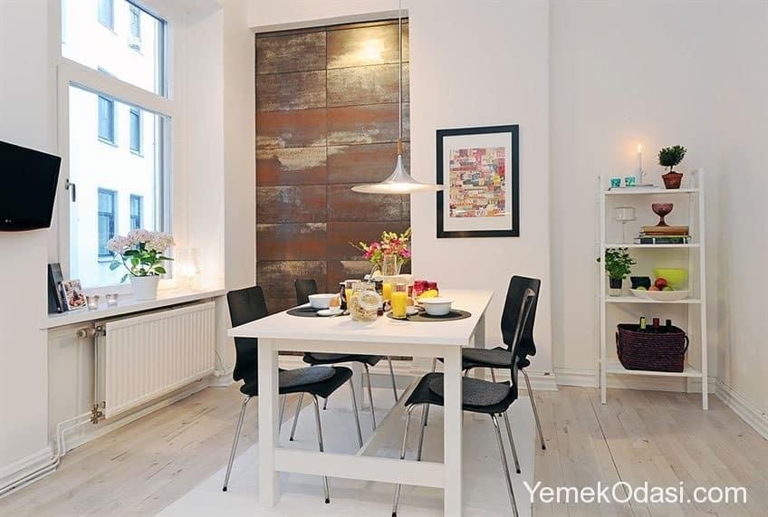 beyaz lake yemek odası takımı (2)