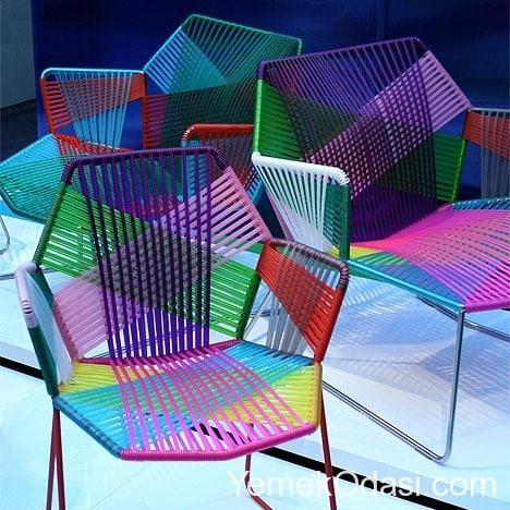 gökkuşağı sandalyeleri