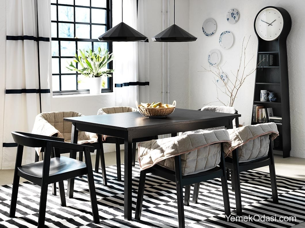 Ikea yemek odas modelleri yemek odas ve dekorasyon for Small dining room ideas ikea