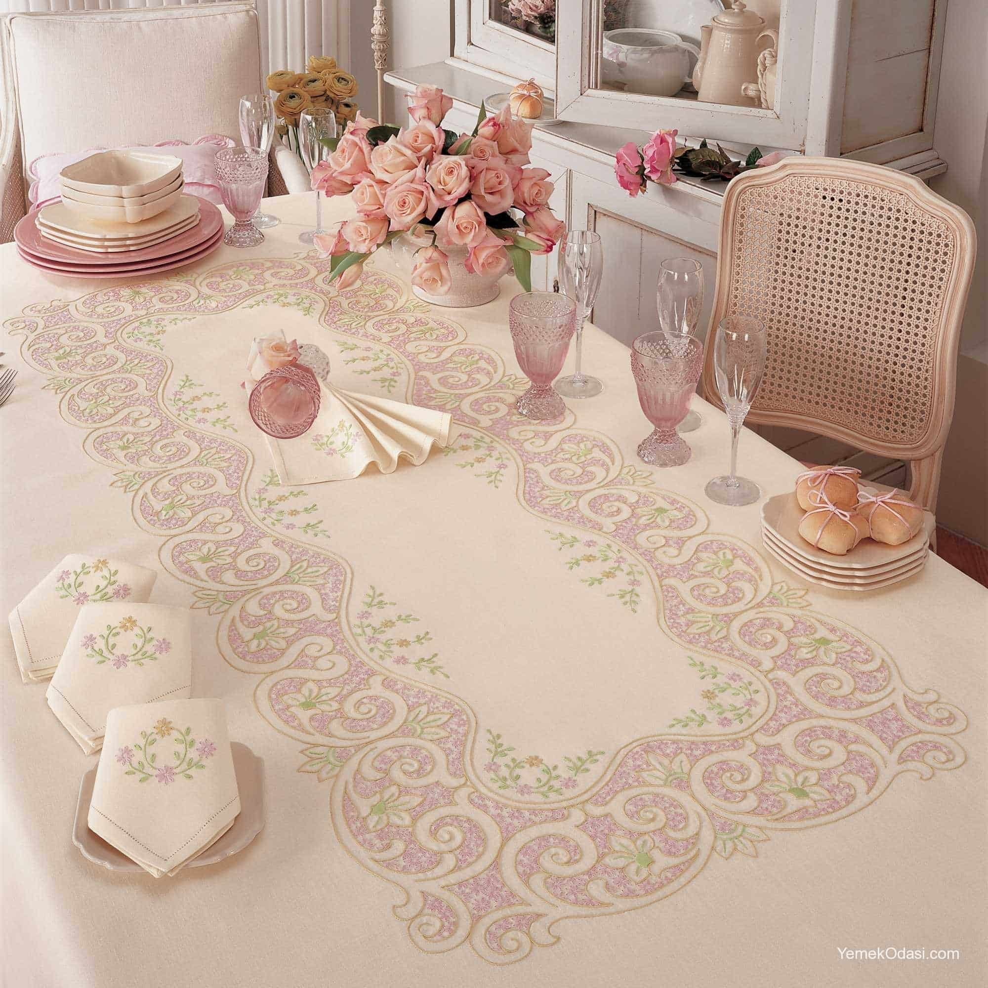 Masa rt s takimlari 6 yemek odas ve dekorasyon - Stoffe per tovaglie da tavola ...