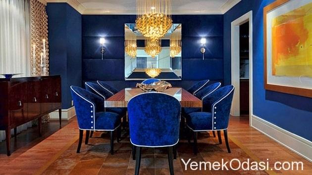 mavi yemek odası