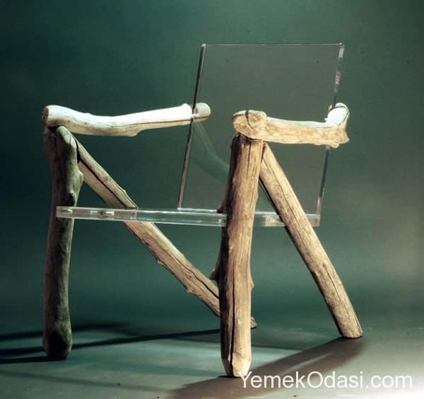 rustik cam sandalye