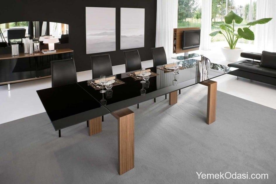 siyah yemek masaları