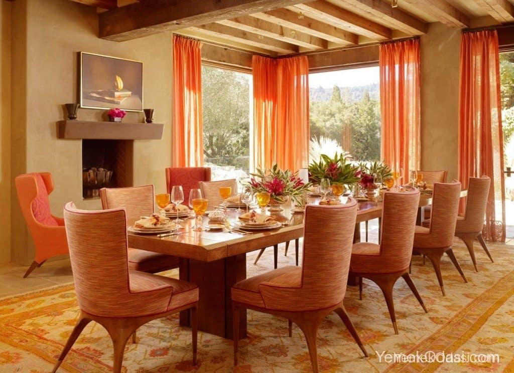 turuncu yemek odası