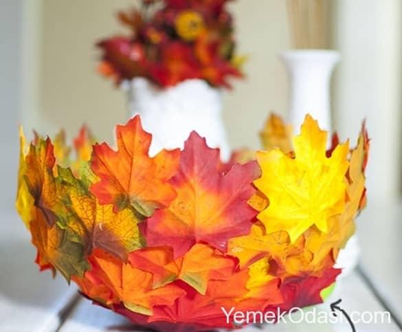 Yapraklar Ile Dekorasyon Fikirleri Yemek Odası
