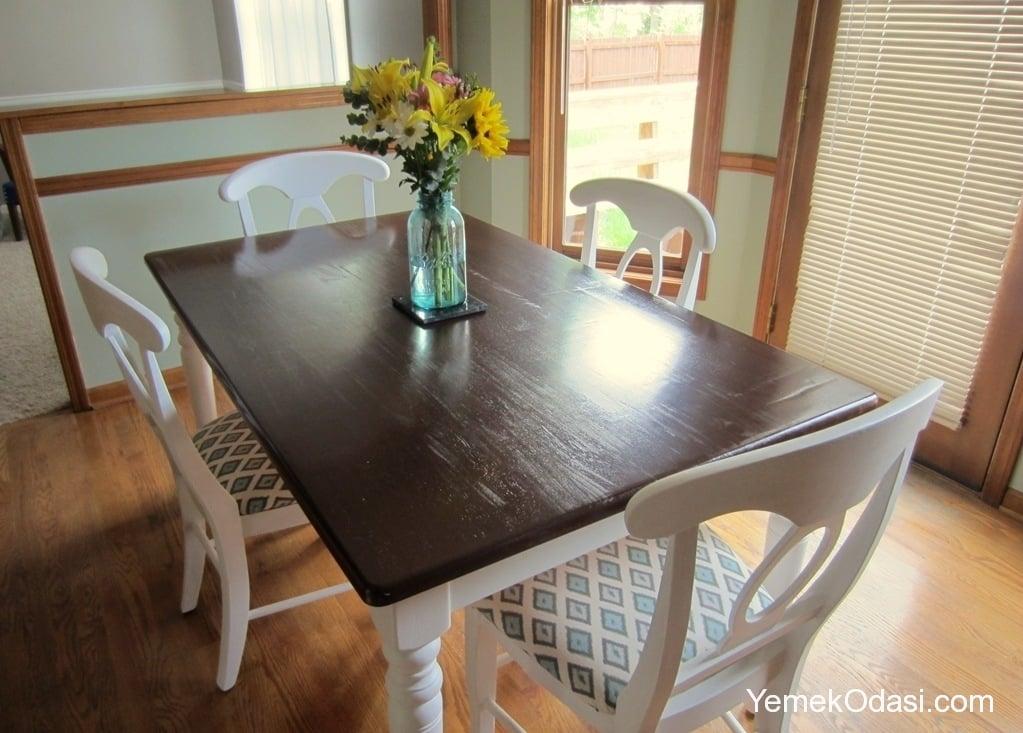 Eski Yemek Masalarını Yenileme Yemek Odası