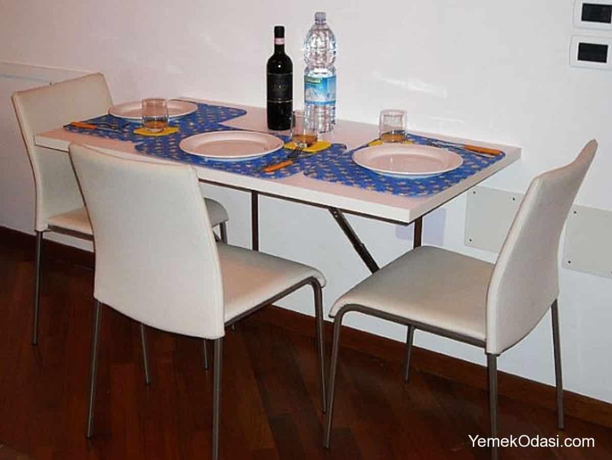 Duvara monteli yemek masalar yemek odas ve dekorasyon - Mesa de comedor plegable a la pared ...