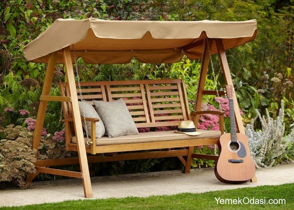 Bah e sal ncaklar yemek odas ve dekorasyon - Columpios de madera para jardin ...
