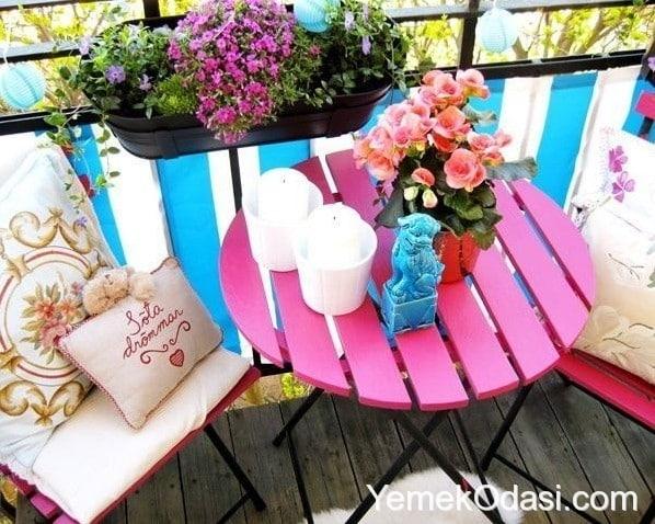 Balkon i ekleri yemek odas - Decorar terrazas reciclando ...