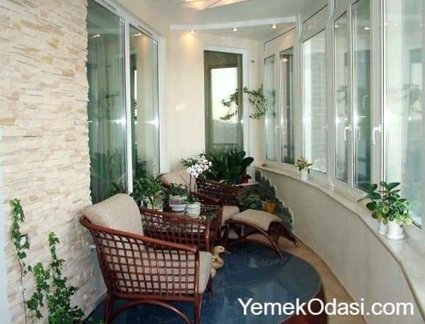 Cam Balkon Yemek Odasi Ve Dekorasyon