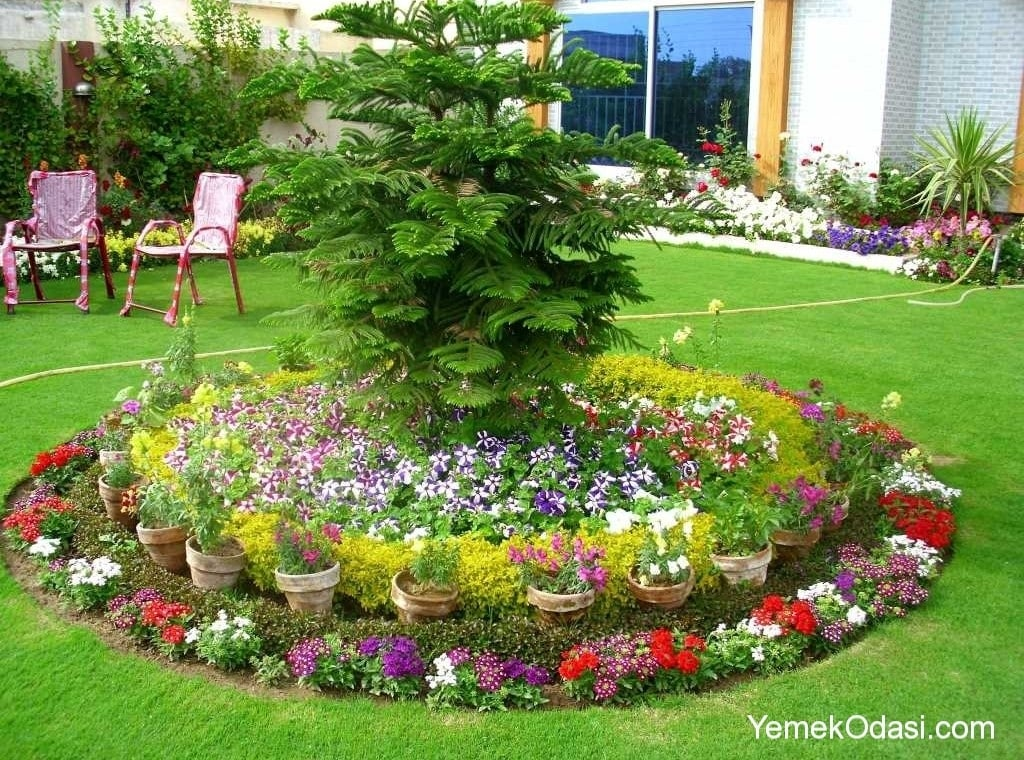 Bah e d zenleme yemek odas ve dekorasyon for Garden flower bed design ideas
