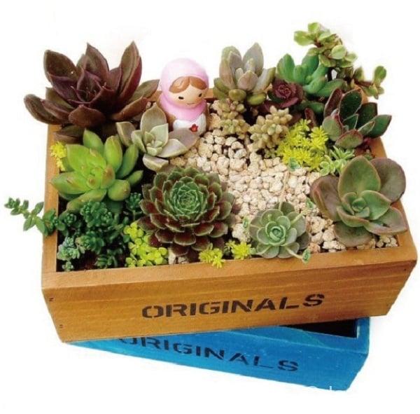 dekoratif ahşap çiçeklik