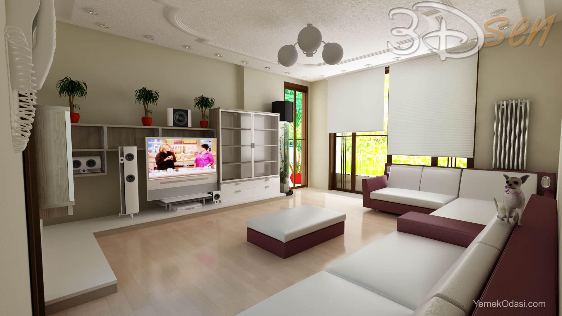 Mimari ve dekorasyon rnekleri yemek odas ve dekorasyon - Mon salon en 3d ...