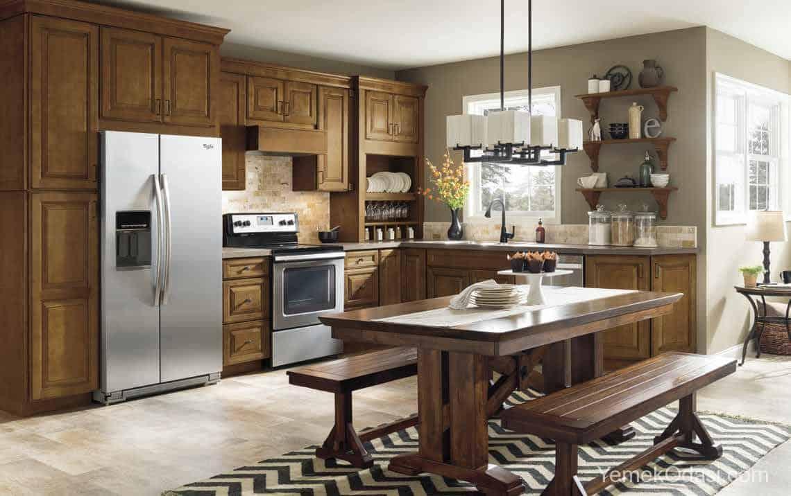 Amerikan Mutfak Dekorasyonları İle Mutfaklarınız Dudak Uçuklatacak 23