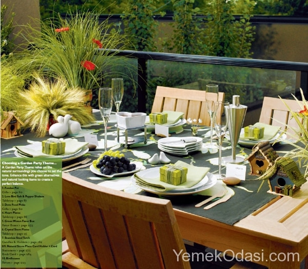 Bahçe Masası İçin Örtü Modelleri 5