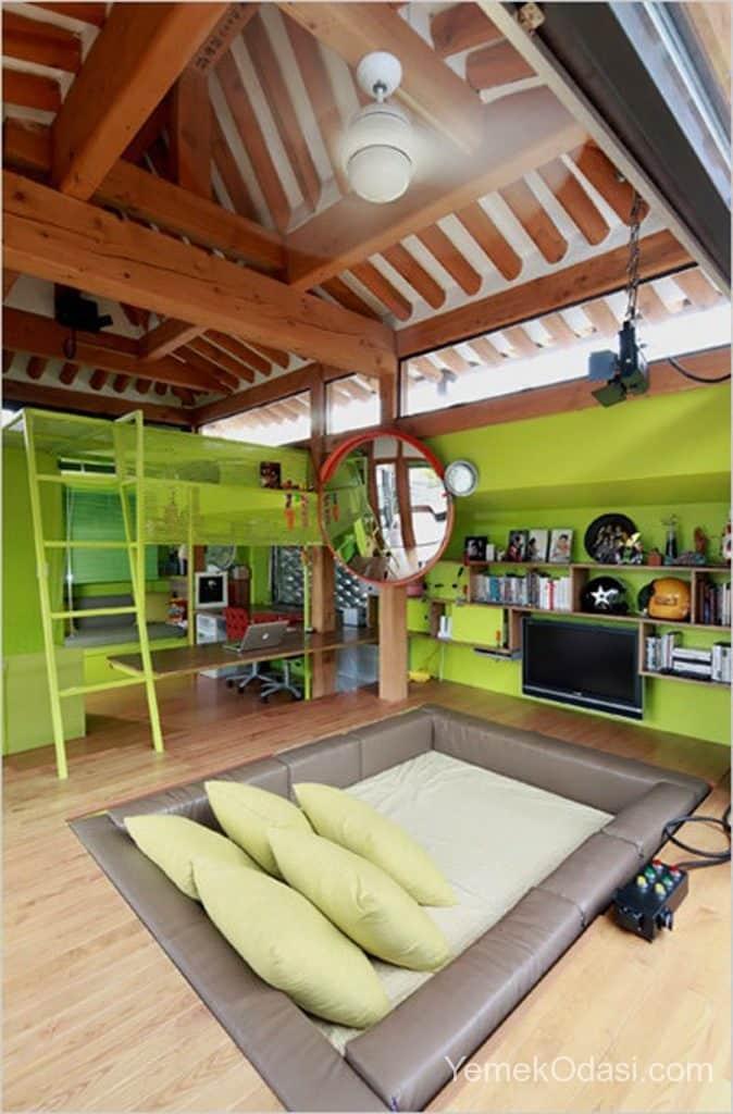 Çocukların Hayal Dünyalarını Süsleyen Tasarım Genç Odaları 1