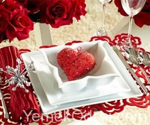 Sevgililer Günü Masa Süslemesi 5