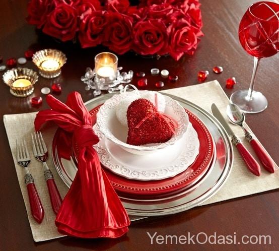Sevgililer Günü Masa Süslemesi 6