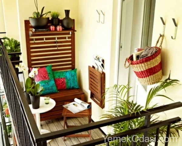 K k balkonlar in dekorasyon fikirleri yemek odas ve for Wanddeko balkon