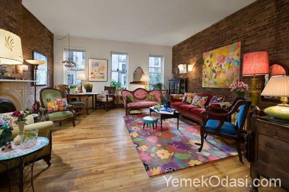 Wall Design Ideas Pinterest : Muhte em vintage salon dekorasyonu yemek odas ve