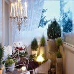 kış balkon dekorasyonu