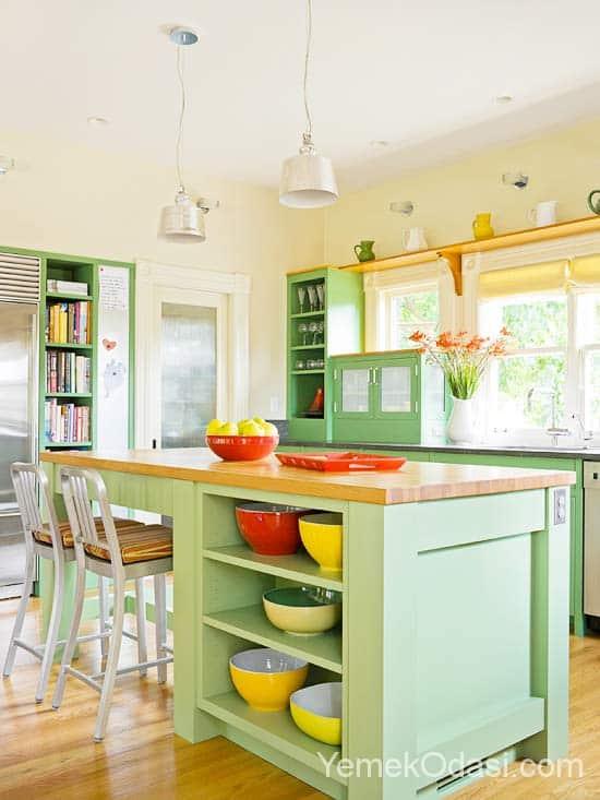 Su Yeşili Mutfak Dolapları
