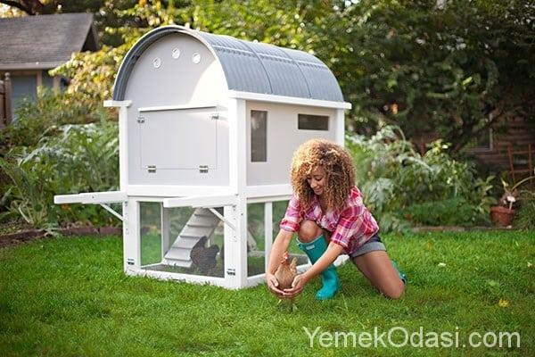 Bahçe Dekorasyonunda Tavuk Kümesi Fikirleri 1