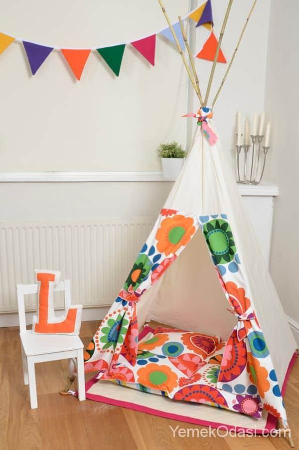 çocuk odası için çadır