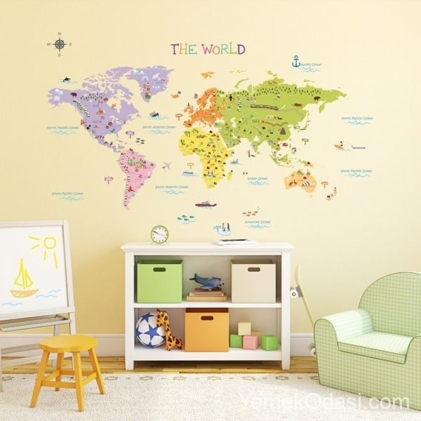 çocuk odası stickermodelleri