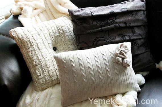 Eski kazaklardan yastık kılıfı