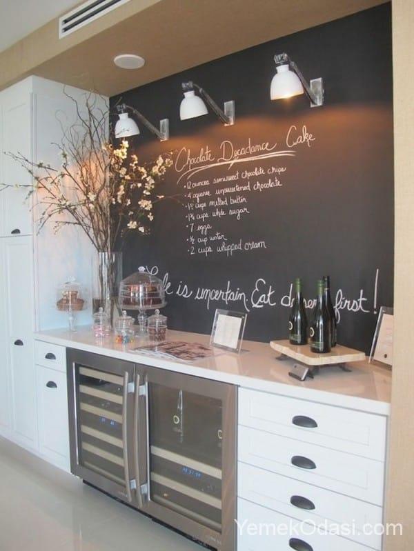 Kara Tahta İle Mutfak Dekorasyonu 1