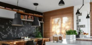 mutfakta kara tahta