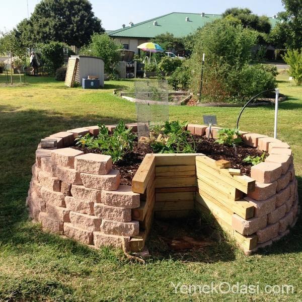 Bahçe Dekorasyonunda Yükseltilmiş Ekim Alanları 1