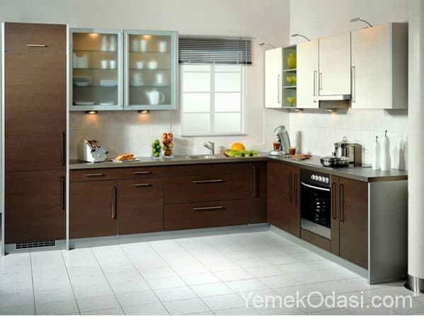 12 Güzel L Tipi Mutfak Dekorasyonu 1