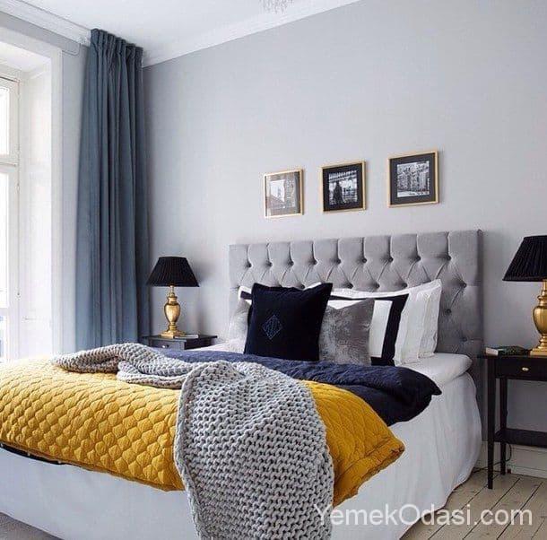 Pictures Of Bedroom Wallpaper Dark Gray Bedroom Black Furniture Turquoise Red Black And White Bedroom Guest Bedroom Colour Schemes: Gri Yatak Odası Dekorasyonu