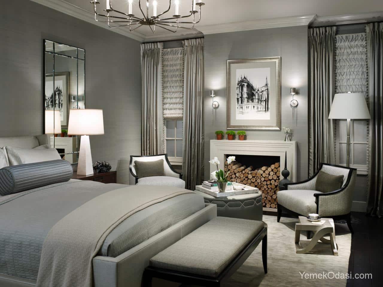 Modern stil yatak odas dekorasyon 214 rnekleri dekorasyon tarz - Good Gri Yatak Odas Dekorasyonu With Yatak Odasi Dekorasyonu