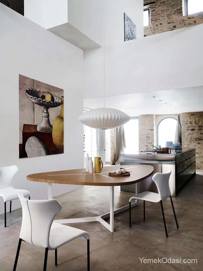 Modern yemek masas modelleri yemek odas ve dekorasyon - Lampada a sospensione per tavolo pranzo ...