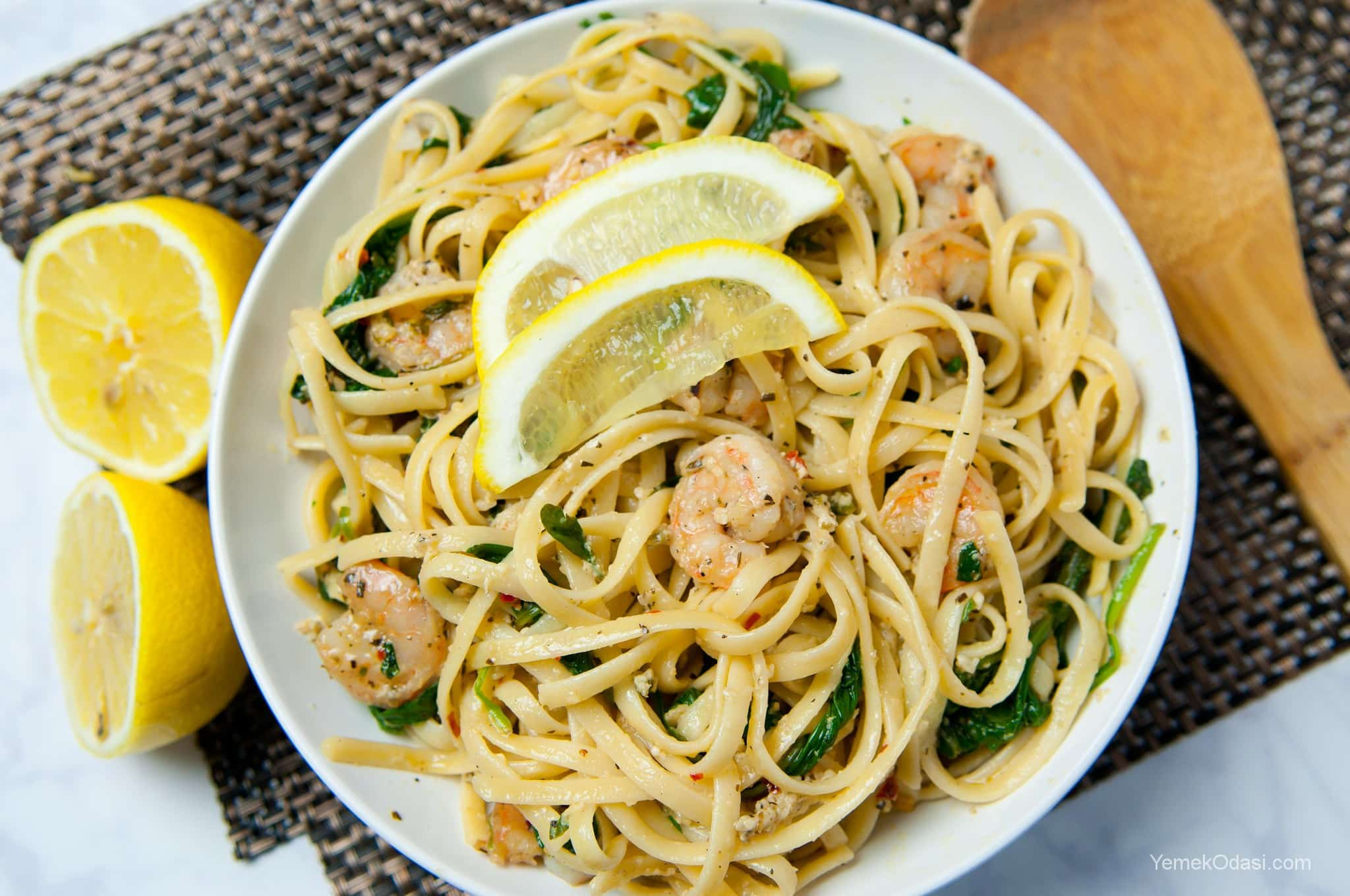 Kremalı Karidesli Spaghetti Tarifi – Hamur İşleri