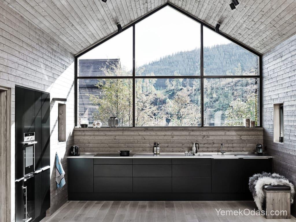Modern çatı katı mutfak