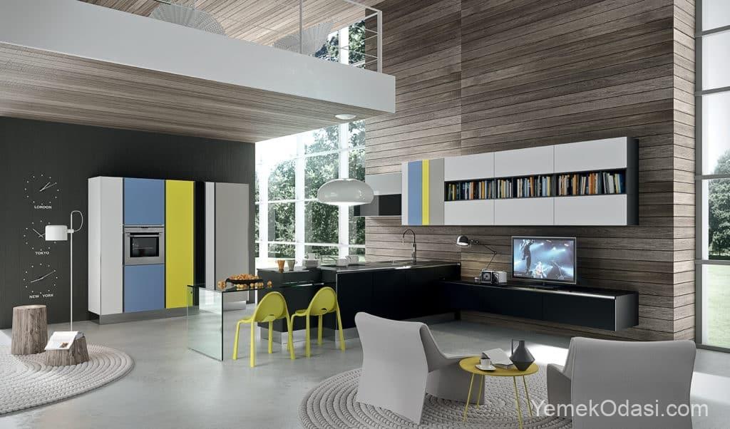 Modern galeri mutfak