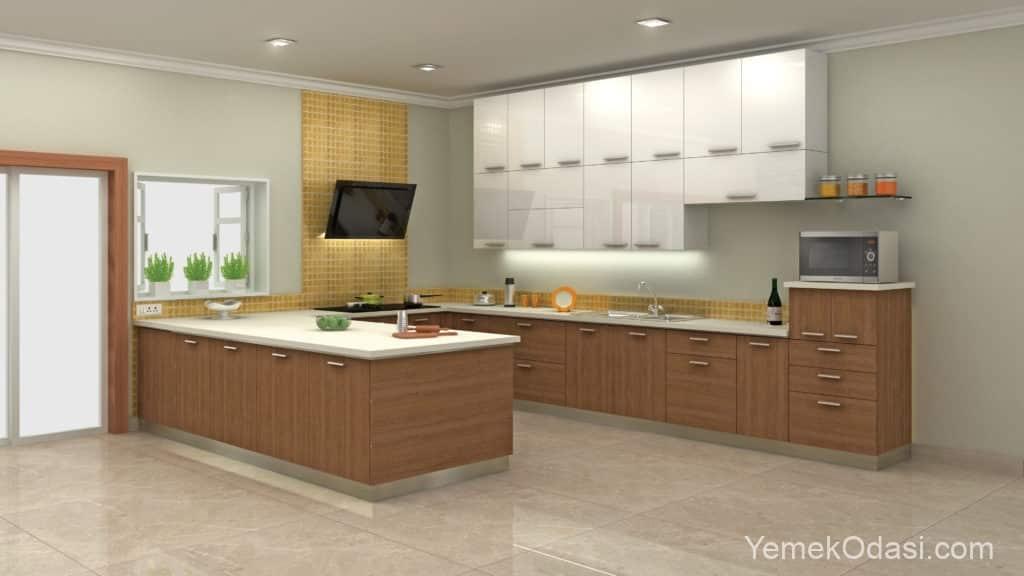 Modern mutfak ve tezgah altı ışıklandırma