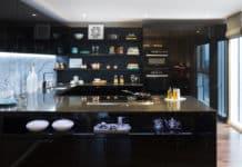 Modern siyah mutfak