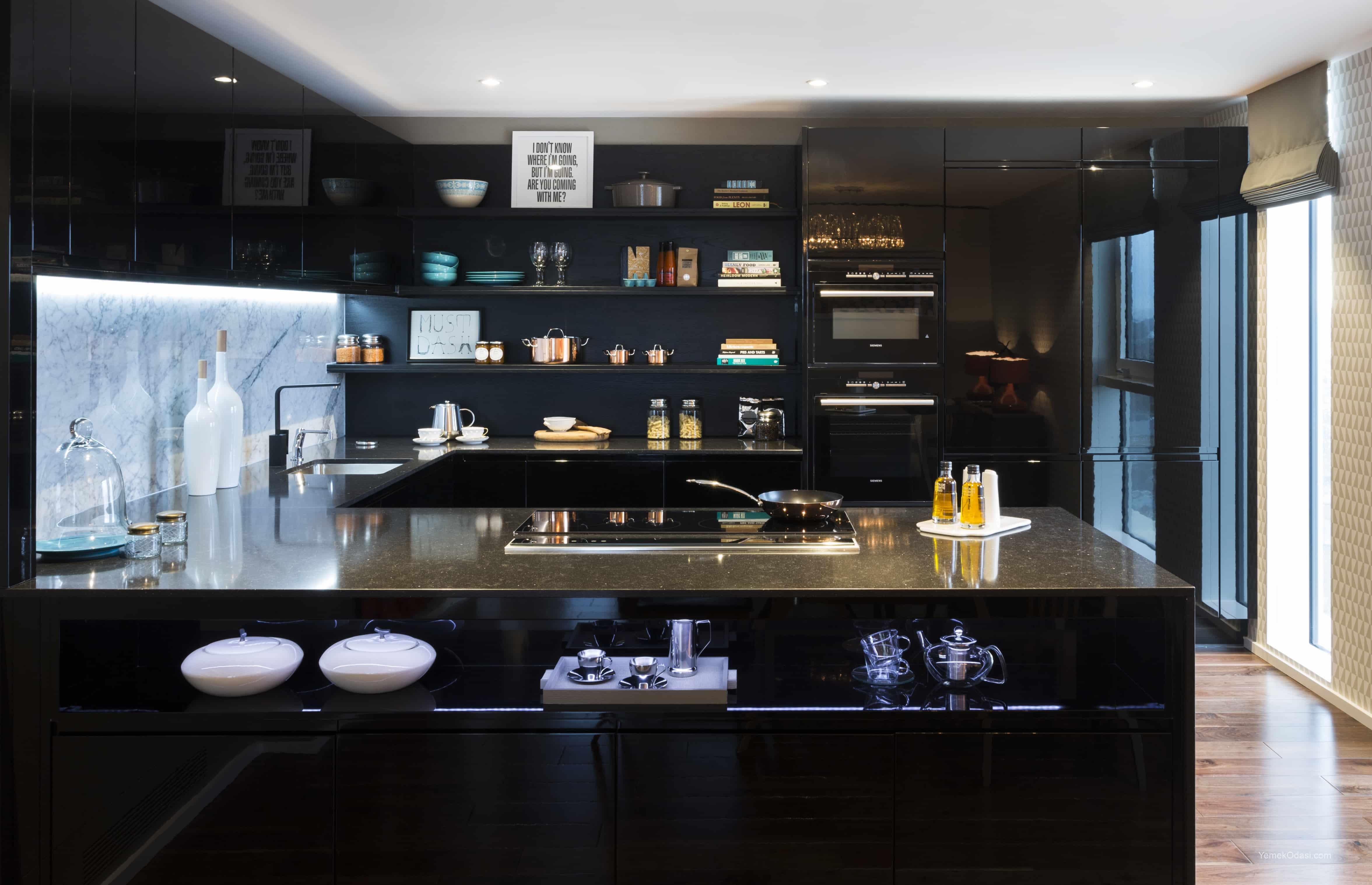 Modern Mutfak Dekorasyonu Yemek Odası