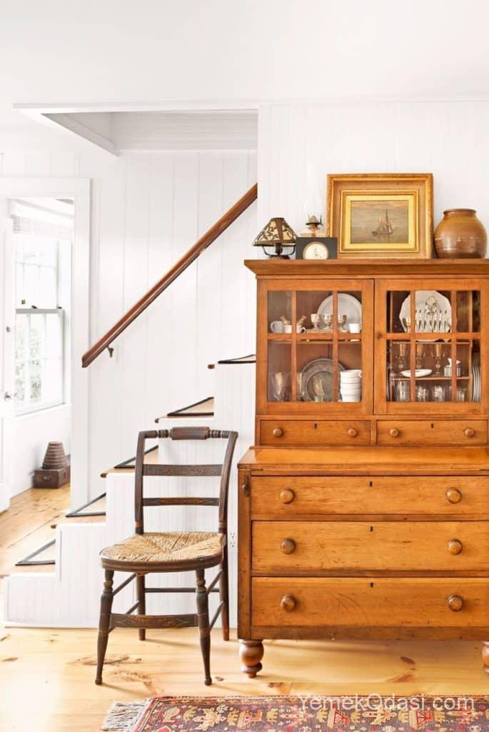 ahsap merdiven ve basit mobilya tasarimlari