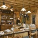 Ahşap mutfak aydınlatma