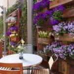 Bahçe Doğal Duvar Saksılık